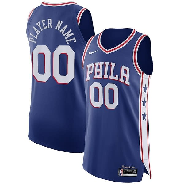 Philadelphia 76ers Jersey For Men, Women, or Youth   Customizable color: Blue White Red  Refuse You Lose