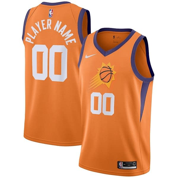 Phoenix Suns NBA Basketball Jersey For Men, Women, or Youth (Any Name and Number) color: Black|White|Purple  Refuse You Lose
