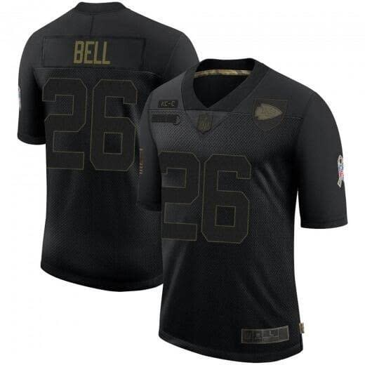 Le'Veon Bell Kansas City Chiefs Salute to Service NFL Football Jersey