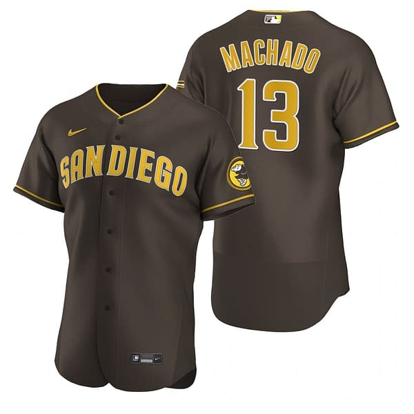Manny Machado San Diego Padres MLB Baseball Jersey for Men, Women, or Youth color: 2019 Alternate Brown|2019 Alternate Navy|2019 Nickname|2020 Alternate Sand|2020 Alternate Tan|2020 Home|2020 Road|Black|2019 Home|2019 Road|Blue Camouflage|Camouflage  Refuse You Lose