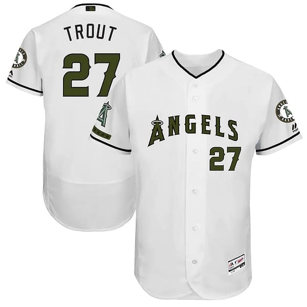 Mike Trout Los Angeles Angels Memorial Day MLB Baseball Jersey