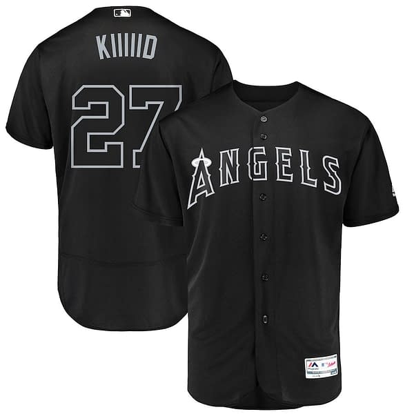 Mike Trout Los Angeles Angels 2019 Nickname MLB Baseball Jersey