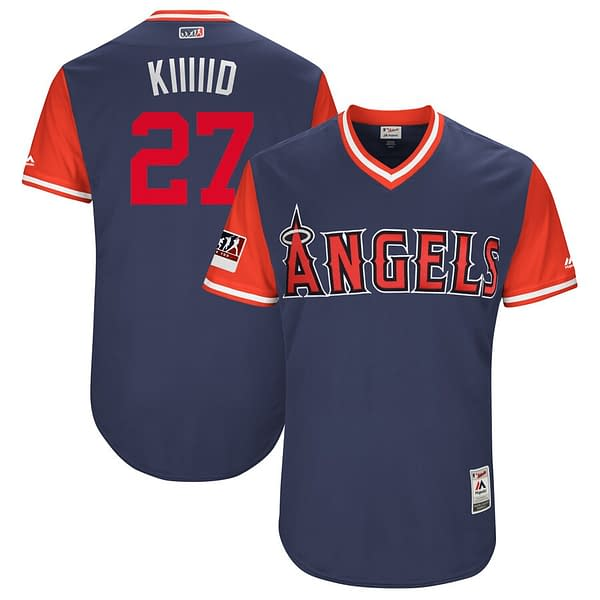 Mike Trout Los Angeles Angels 2018 Nickname MLB Baseball Jersey