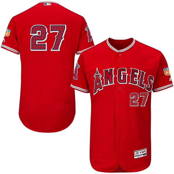 Mike Trout Los Angeles Angels Spring Training MLB Baseball Jersey