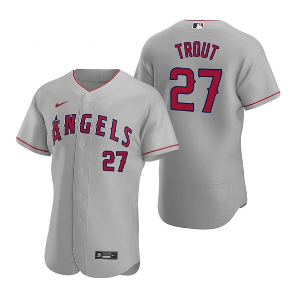 Mike Trout Los Angeles Angels 2020 Road MLB Baseball Jersey