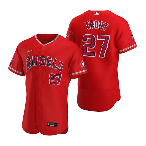 Mike Trout Los Angeles Angels 2020 Alternate MLB Baseball Jersey