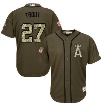 Mike Trout Los Angeles Angels Salute to Service MLB Baseball Jersey