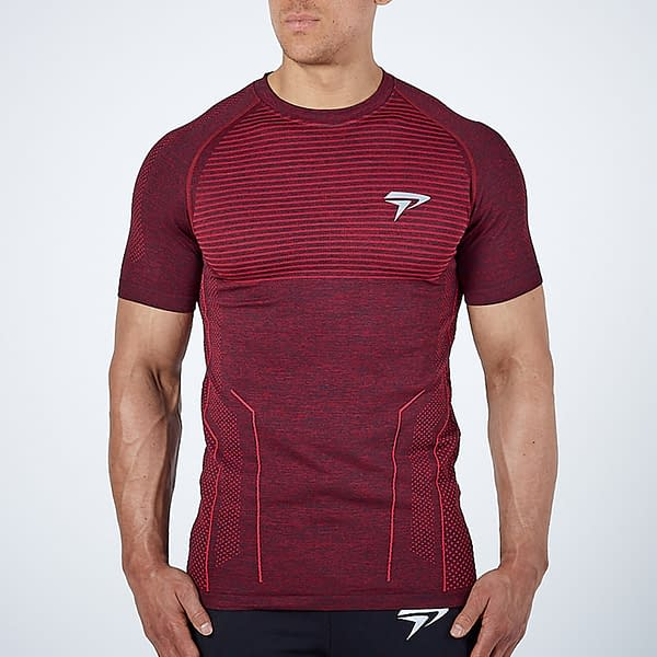 Men's Compression Quick Dry Sport T-Shirt Refuse You Lose color: Blue Gray Red