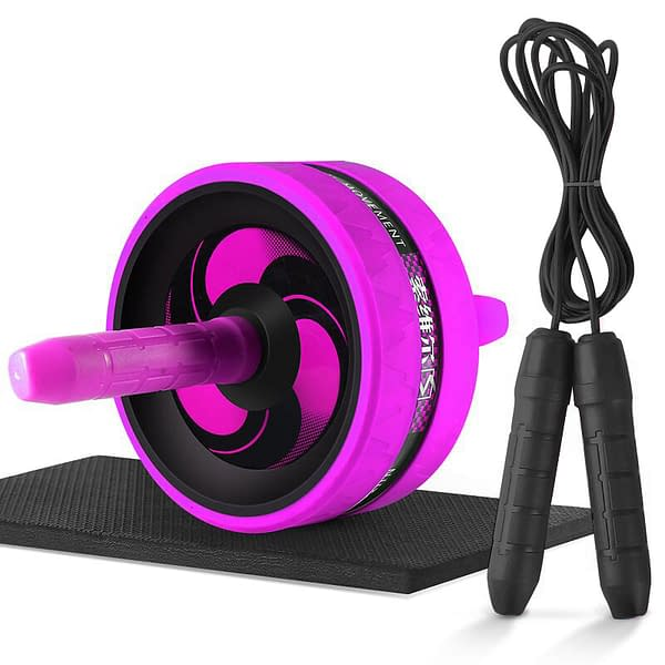 Roller&Jump Rope No Noise Abdominal Wheel Ab Roller with Mat For Exercise Fitness Equipment Accessories Body Building 2020 New Deals 🎉 Best Gifts of 2020 🎁 Best Gifts of 2020 For Women 🌹 Best Gifts of 2020 For Men 💪 color: Rose red with rope  Refuse You Lose https://refuseyoulose.com