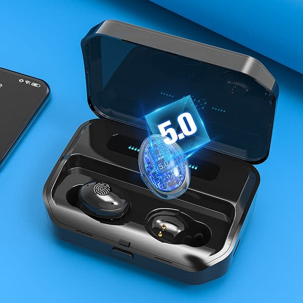 4200mAh TWS Bluetooth 5.0 Eaphones With Charging Case Wireless Earphone IPX7 Waterproof Earbuds Sport 9D Stereo Touch Control color: 2600mAh AS SHOWN 4200mAh AS SHOWN 4200mAh AS SHOWN  Refuse You Lose