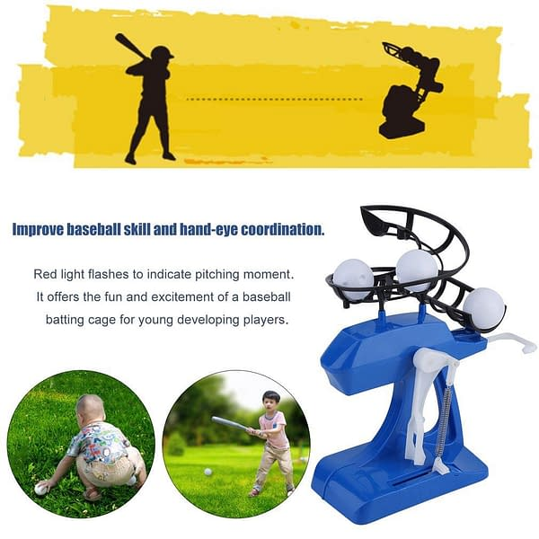 Automatic Pitching Machine For Kids Applicable People: Child, Children, Kids, Boys, Girls, Baseball Fans  Refuse You Lose
