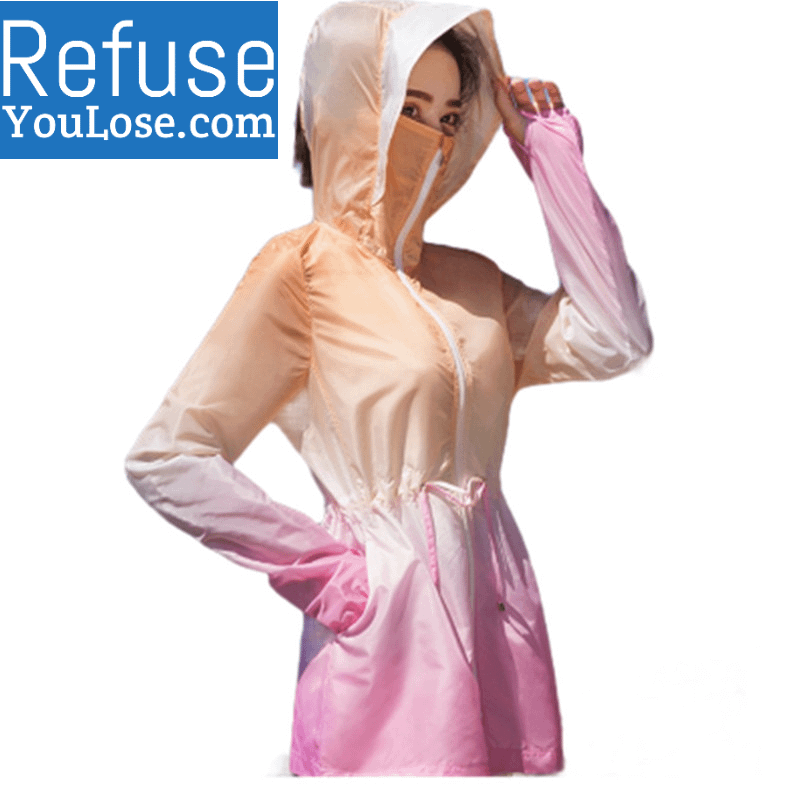 Lightweight Summer Jacket with Face Covering for Women