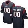 Houston Texans NFL Football Jersey For Men, Women, or Youth (Custom Name and Number) color: White Navy Red  Refuse You Lose