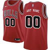 Chicago Bulls NBA Basketball Jersey For Men, Women, or Youth (Any Name and Number) color: Black|White|Red  Refuse You Lose