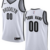 Brooklyn Nets NBA Basketball Jersey For Men, Women, or Youth (Any Name and Number) Refuse You Lose color: Black|Charcoal|White