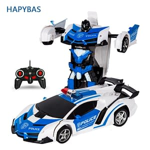 Remote Control Car Transformation Robot (Multiple Colors) Refuse You Lose color: Captain|Polic car|Red Chariot|Blue|Red|Yellow|Orange