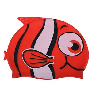 Cartoon Silicone Kids Swimming Cap Refuse You Lose color: A|B|C|D|E|F|G|H|I|J|Red with tooth|Royalblue with tooth|Silver with tooth|Yellow with tooth