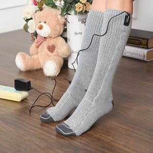 Socks With USB-Powered Heaters Refuse You Lose color: Gray
