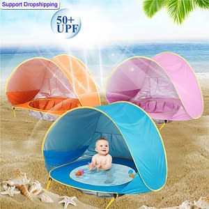 Baby UV-Protecting Tent Refuse You Lose color: 100 pcs|Rose Shark|Shark|Blue|Pink|Rose Red|Orange