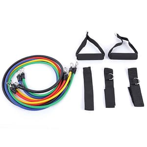 Universal Indoor Latex Resistance Bands Kit Refuse You Lose color: colormix