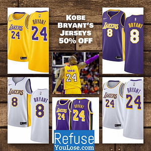 Refuse? You Lose! Kobe Bryant Jersey Giveaway! https://refuseyoulose.com/contest/kobe-bryant-jersey-giveaway/