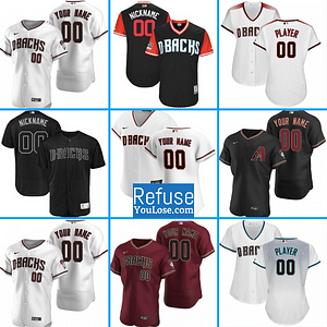 Arizona Diamondbacks MLB Baseball Jersey For Men, Women, or Youth (Any Name and Number) Refuse You Lose color: 2018 Nickname|2019 Alternate Black|2019 Alternate Red|2019 Alternate Road|2019 Alternate Teal|2019 Nickname|2020 Alternate Black|2020 Alternate Red|2020 Alternate Teal|2020 Home|2019 Home|2019 Road|Alternate Road