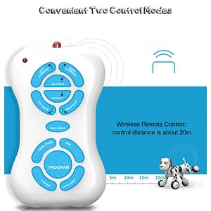 Remote Control Smart Dog Refuse You Lose color: White
