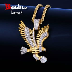 Eagle Necklace with Gold Chain Refuse You Lose metal-color: Gold