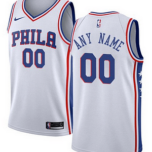 Philadelphia 76ers NBA Basketball Jersey For Men, Women, or Youth (Any Name and Number) Refuse You Lose color: Blue|White|Red