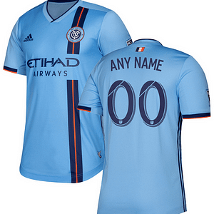 New York City FC MLS Soccer Jersey for Men, Women, or Youth (Any Name and Number) Refuse You Lose color: 2018 Home|2018 Road|2019 Home