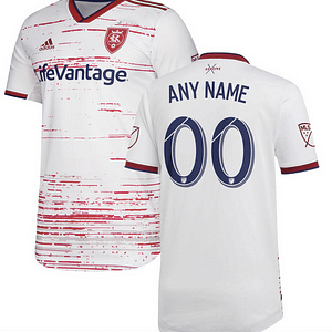 Real Salt Lake MLS Soccer Jersey for Men, Women, or Youth (Any Name and Number) color: 2018 Home 2018 Road 2019 Road  Refuse You Lose