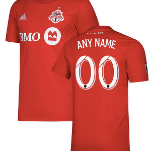 Toronto FC MLS Soccer Jersey for Men, Women, or Youth (Any Name and Number) color: 2018 Home|2018 Road|2019 Home|2019 Road  Refuse You Lose