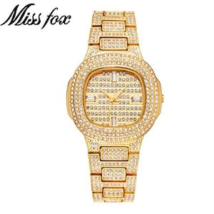 Designer Watch For Women Refuse You Lose color: White Dial and Gold Band