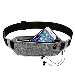 Sports Waist Bags with Hidden Pouches Refuse You Lose color: Blue|Pink|Green|Grey