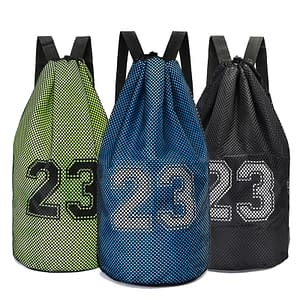 23 Print Large Basketball Mesh Bag Refuse You Lose color: Black|Dark Grey|Green|Orange|Red|Sky Blue