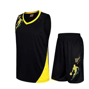 Men's Basketball Breathable Printed Uniform Sets Refuse You Lose color: Black|Blue|White|Yellow|Green|Red
