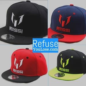 Messi Hat Refuse You Lose color: Black|Yellow|Navy Blue|Red
