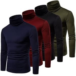 Men's Turtleneck Warm Pullover Limited Time Deals ⏳ 2020 New Deals 🎉 Coats For Men color: Black Army Green Burgundy Navy Blue  Refuse You Lose https://refuseyoulose.com