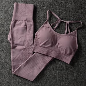 Women's Solid Color Sports Bra and Leggings Set Refuse You Lose color: Black|Red|Army Green|BROWN|Purple
