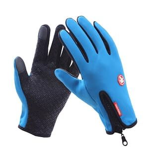 Waterproof Winter Warm Gloves color: Light Blue Size: Small Refuse You Lose