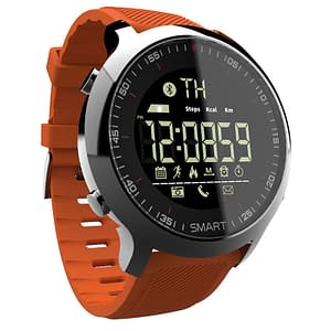 Professional Sports Round Shaped Waterproof Silicone Smart Watch color: Orange  Refuse You Lose