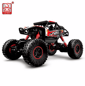 High-Speed Remote Control Four-Wheel Drive Truck (Jeep) Refuse You Lose color: Blue|Red