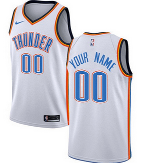 Oklahoma City Thunder NBA Basketball Jersey For Men, Women, or Youth (Any Name and Number) Refuse You Lose color: Blue|White|Navy