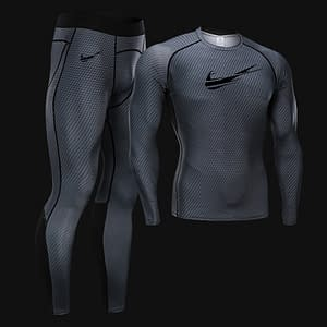 Men's Thermal Quick-Drying Jogging Training Set Refuse You Lose color: Light Green Black Blue Dark Gray Gray White Navy Red