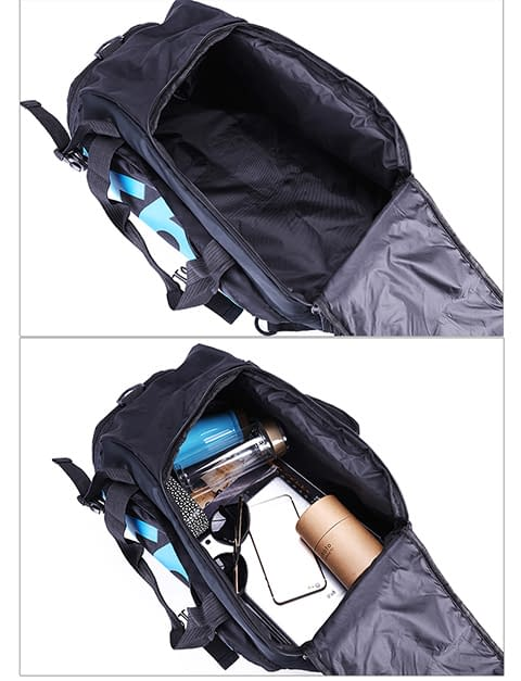 Gym Bag with Shoes Compartment Refuse You Lose color: Blue White Yellow Bluewhite Redwhite