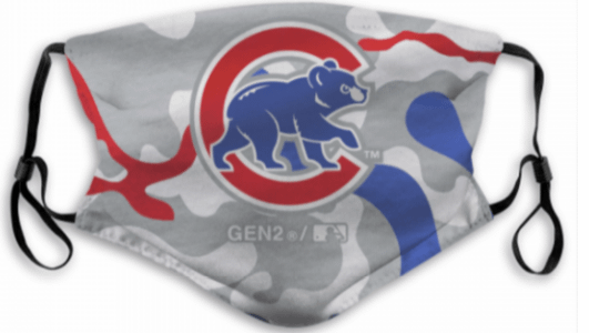 Chicago Cubs Face Mask For Kids or Adults color: Chicago|Cubbie Bear|Cubs  Refuse You Lose