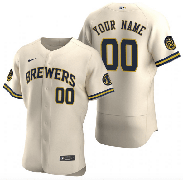 Customizable Milwaukee Brewers MLB Jersey For Men, Women, or Youth Refuse You Lose color: 2018 Nickname|2019 Nickname|2020 Alternate Navy|2020 Alternate White|2020 Home|2020 Road