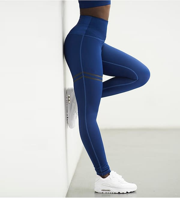 Women's High Waist Slim Sport Leggings Refuse You Lose color: Black|Blue|Red