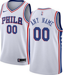 Philadelphia 76ers NBA Basketball Jersey For Men, Women, or Youth (Any Name and Number) Gifts For Men Sports Jerseys For Men Sports Jerseys For Women Jerseys For Kids Sports & Jerseys Basketball Jerseys color: Blue|White|Red