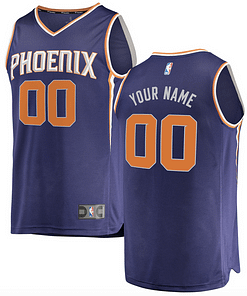 https://refuseyoulose.com Phoenix Suns NBA Basketball Jersey For Men, Women, or Youth (Any Name and Number) Jerseys For Men ⚾️🏀🏈⚽️🏒 Jerseys For Women ⚾️🏀🏈⚽️🏒 Jerseys For Kids ⚾️🏀🏈⚽️🏒 Basketball Jerseys 👕🏀👚 color: Black|White|Purple Refuse You Lose https://refuseyoulose.com/shop/phoenix-suns-nba-basketball-jersey/